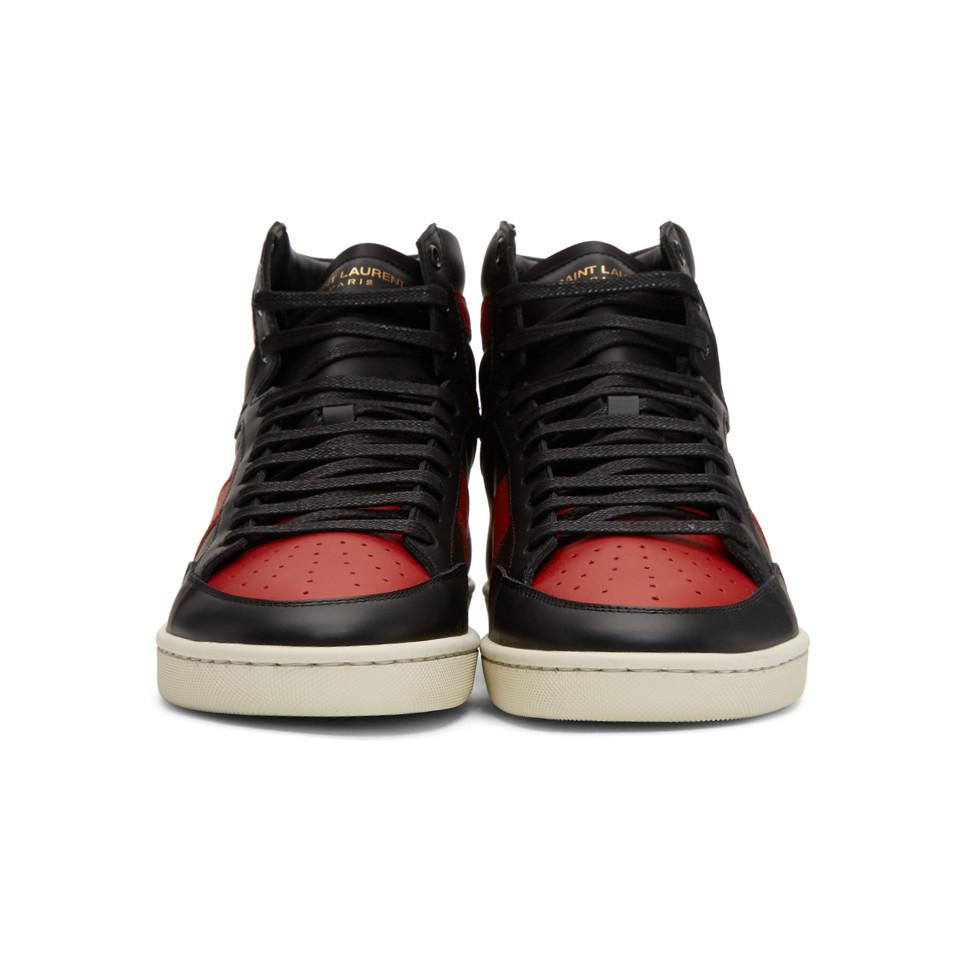 57d5fe797830 Saint Laurent - Black And Red Court Classic Sl 10 High-top Sneakers for.  View fullscreen