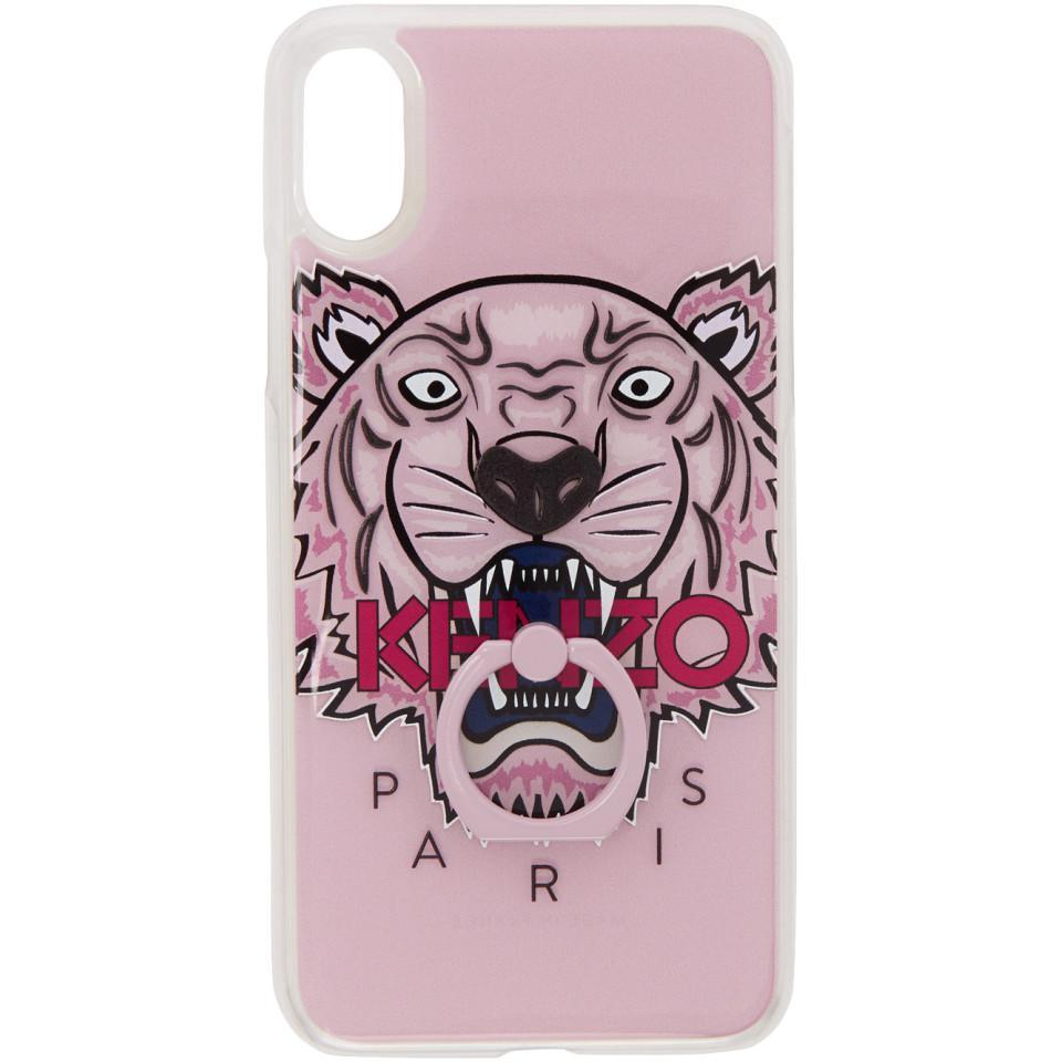 coque iphone x kenzo rose