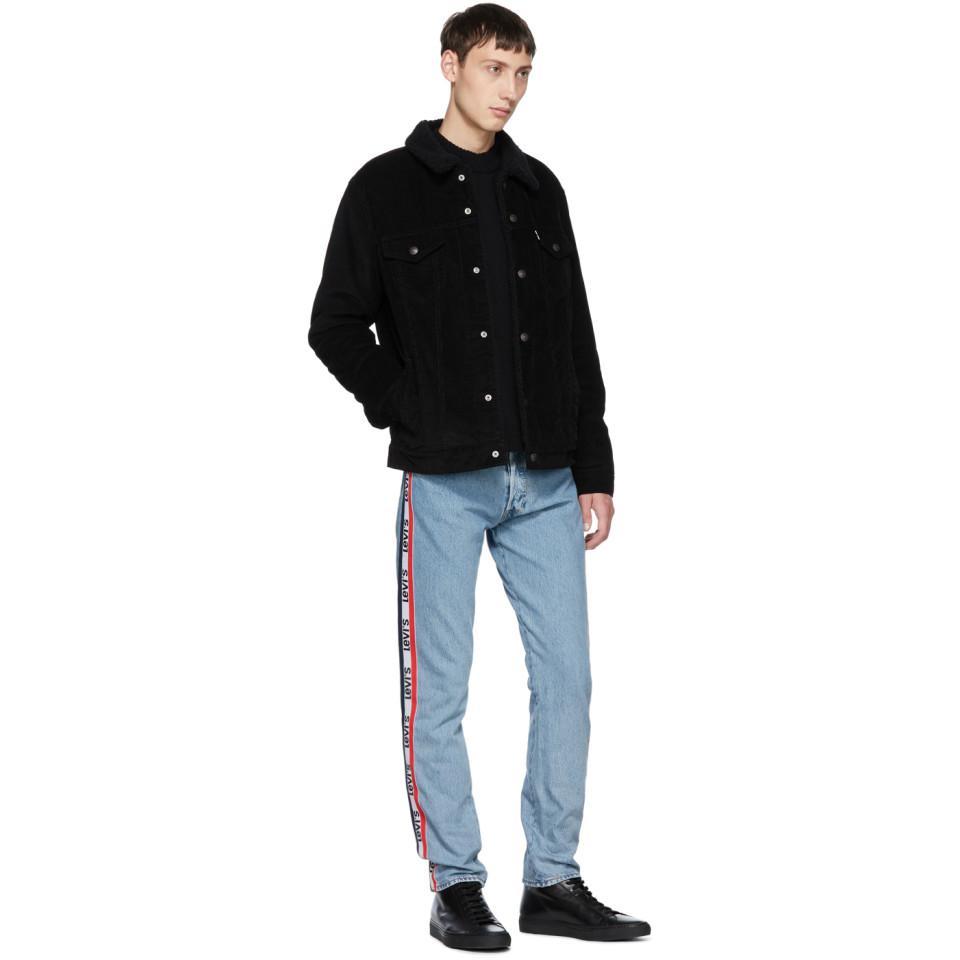 c99f0566 Levi's Blue 501 Taper Sport Stripes Jeans in Blue for Men - Lyst