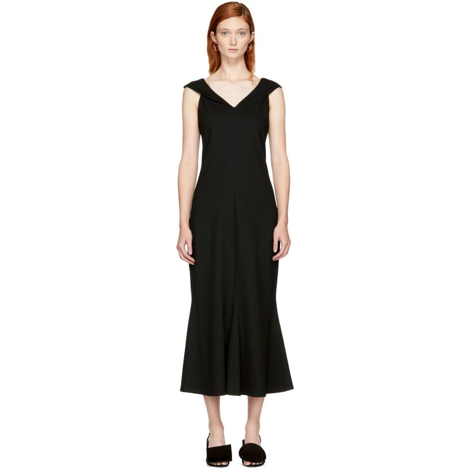 Cheap Sale Eastbay Black Split Neck Flared Dress Rosetta Getty Real Under 50 Dollars Outlet Fashion Style How Much Cheap Price z3nPFXqdUt