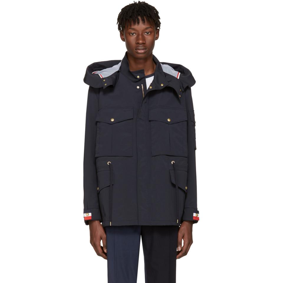 Moncler Gamme Bleu Synthetic Nylon Field Jacket in Navy