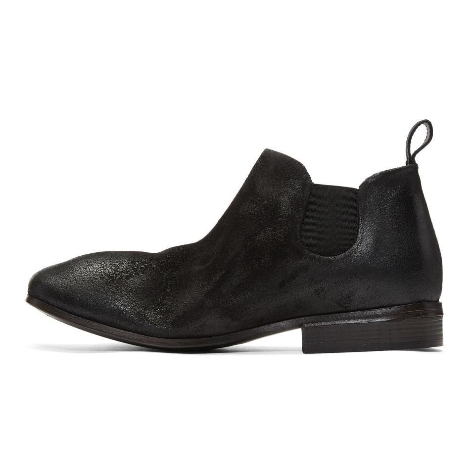 Marsèll Black Suede Dodo Chelsea Boots CL4LqLw