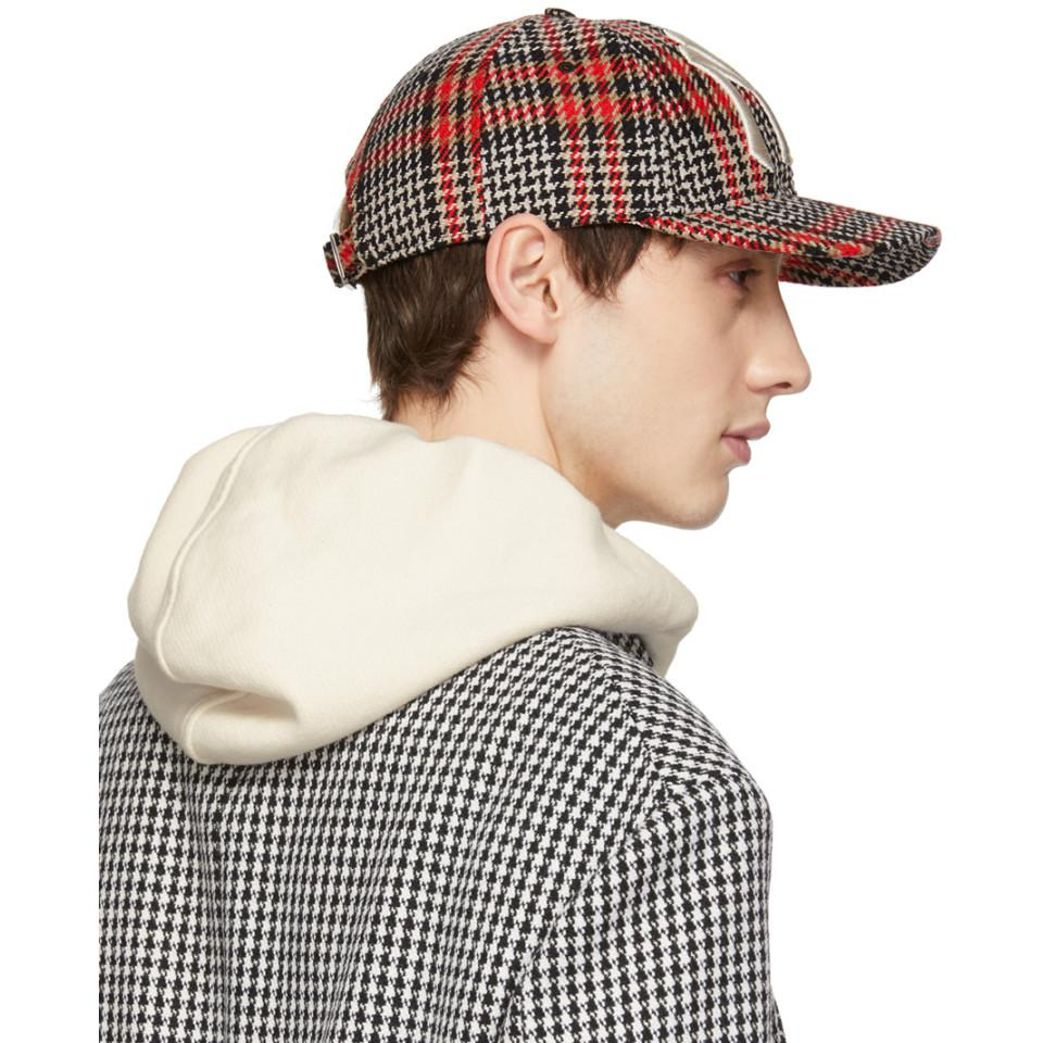 b0ffb424f75 Gucci Multicolor Ny Yankees Edition Plaid Patch Cap in Red for Men ...