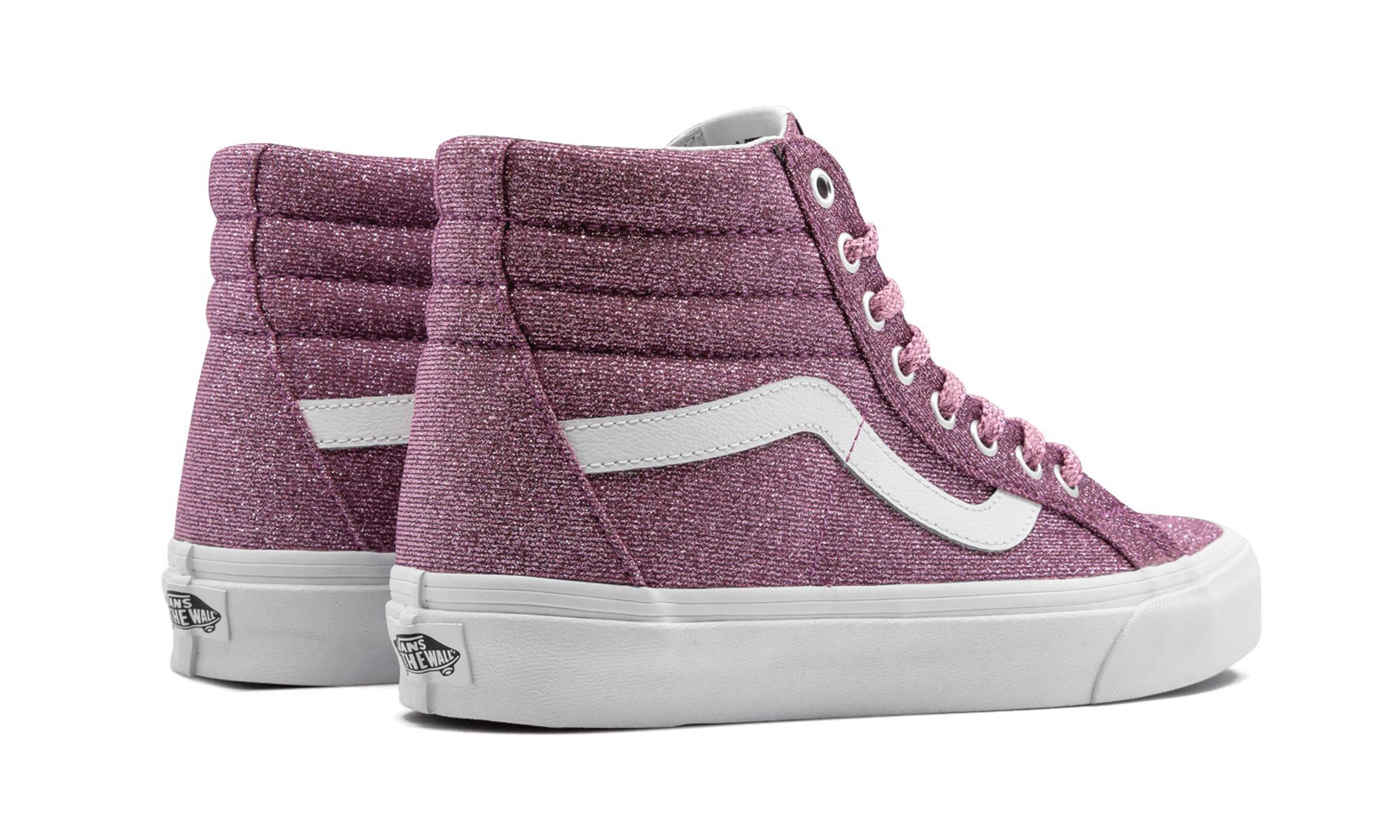 f84d70da9c Lyst - Vans Sk8-hi Reissue (lurex Glitter) in Pink