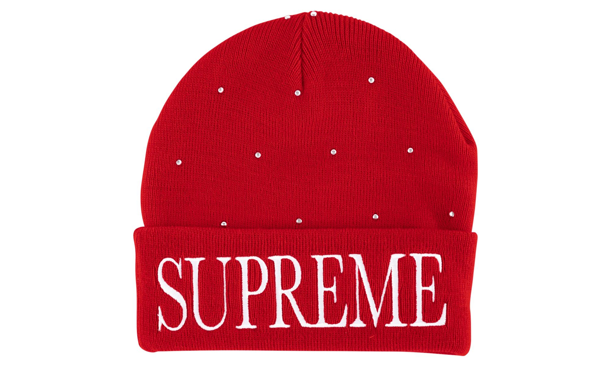 f7082b4d87aef Supreme - Red Studded Beanie Hat for Men - Lyst. View fullscreen