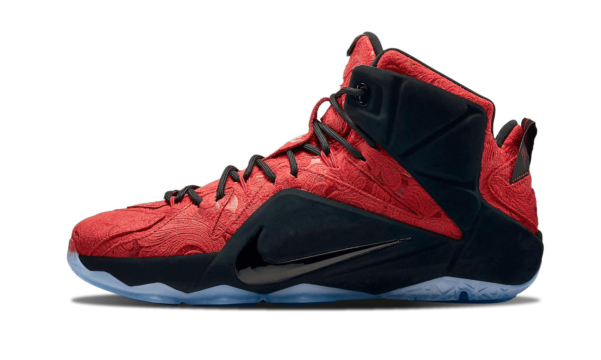 bfa114bb47d7 Lyst - Nike Lebron 12 Ext in Red for Men - Save 17%