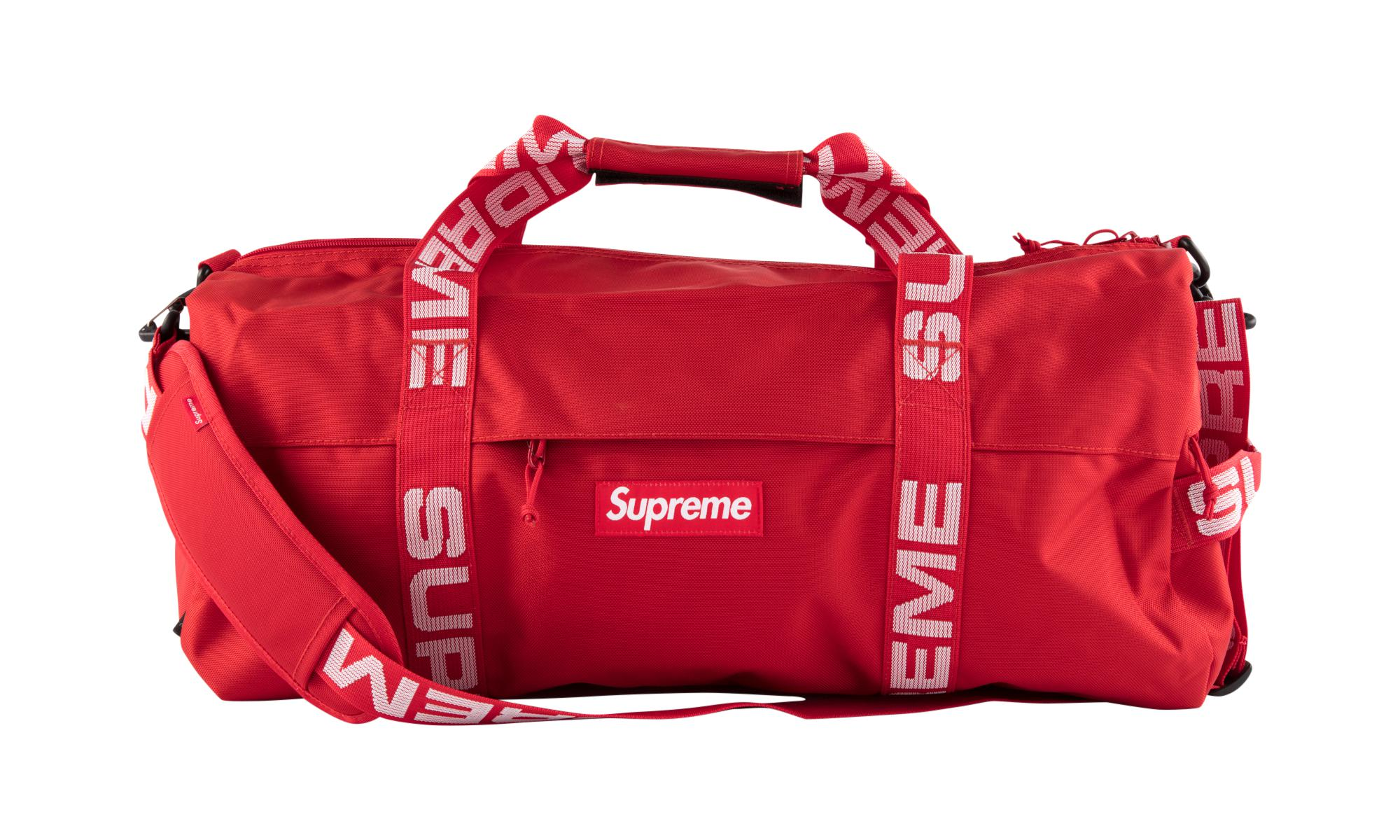 a0e6447cd472 Supreme - Red Large Duffle Bag for Men - Lyst. View fullscreen