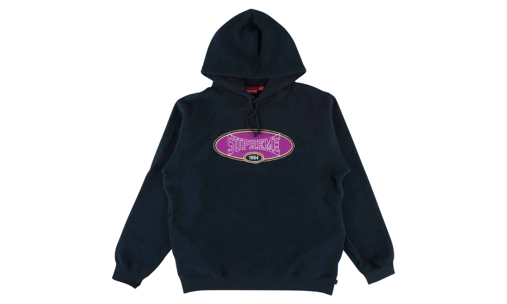 45994fc7 Supreme - Blue Reverse Fleece Hooded Sweatshirt for Men - Lyst. View  fullscreen