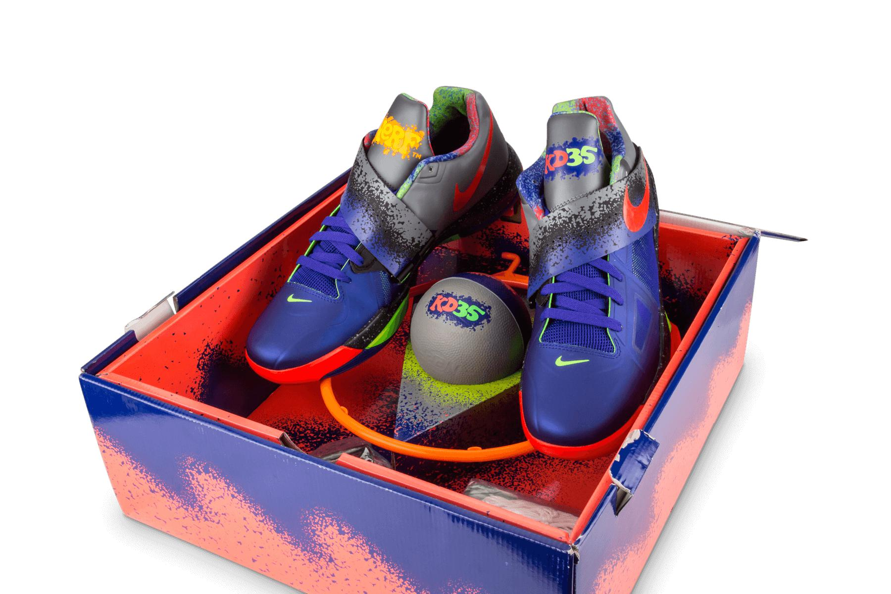 fd5a5168a425 Nike - Blue Zoom Kd 4 Concord bright Crimson  nerf  for Men -. View  fullscreen