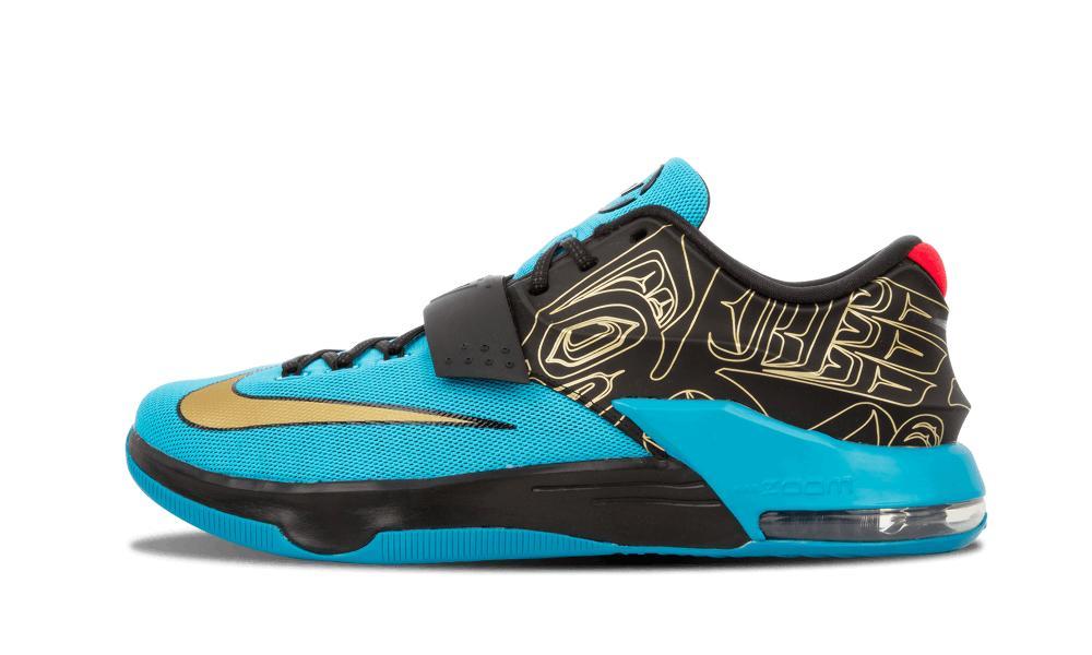13d6e7b001dc Lyst - Nike Kd Vii N7 Dark Turquoise metallic Gold in Blue for Men ...