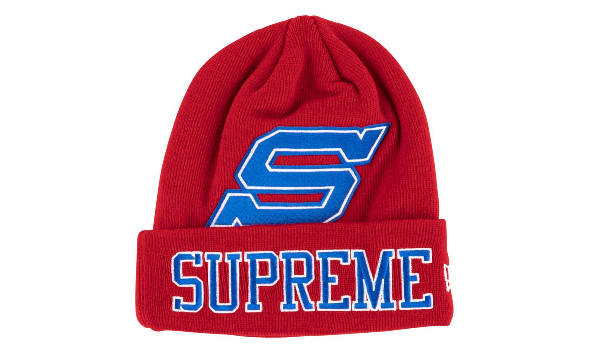 c030edb3a36 Supreme - Red New Era Big S Beanie for Men - Lyst. View fullscreen
