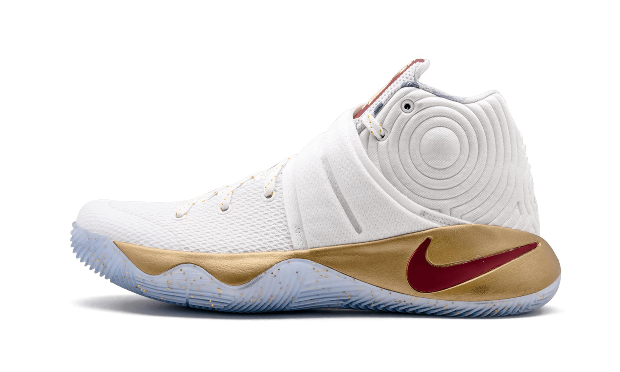 45a259f8fb8c Nike Kyrie 2 in White for Men - Save 5% - Lyst