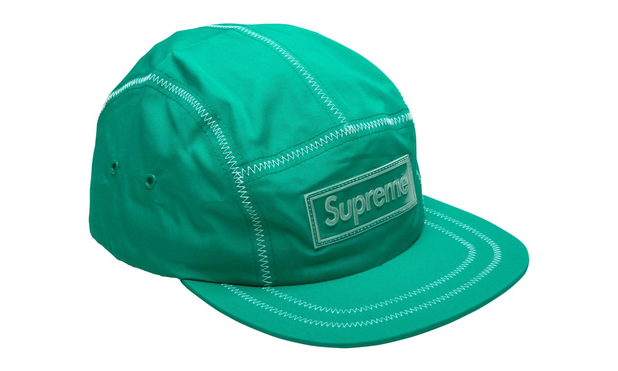 1c40b1f3f0a Supreme - Green Contrast Stitch Camp Cap for Men - Lyst. View fullscreen