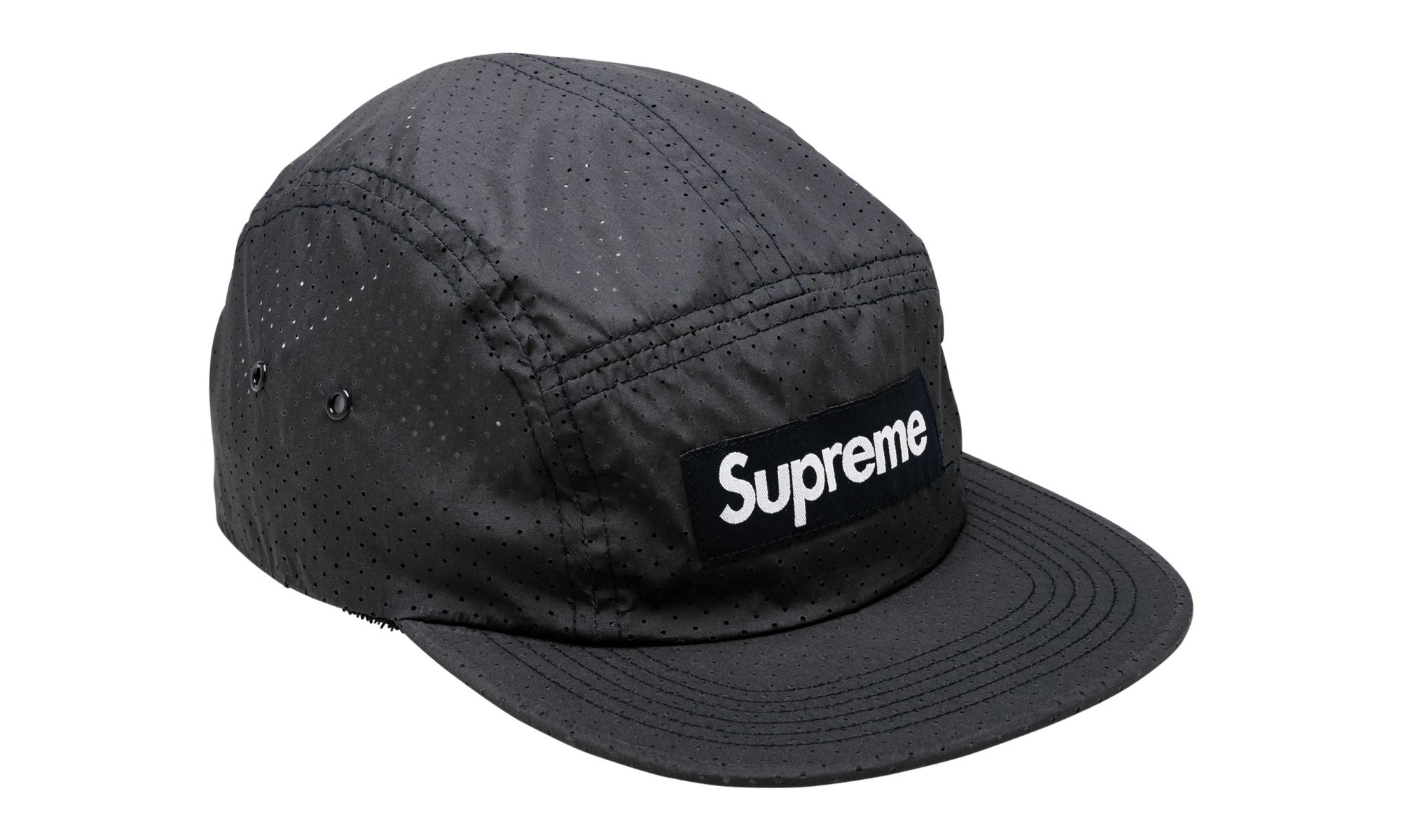 408a9c5070a Supreme Perforated Camp Cap in Blue for Men - Lyst