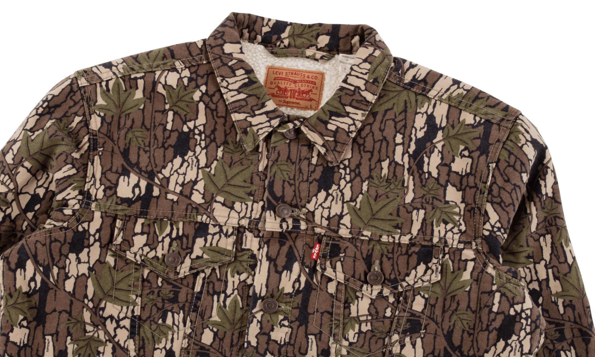 8a7e558db8 Lyst - Supreme Levi s Sherpa Jacket for Men