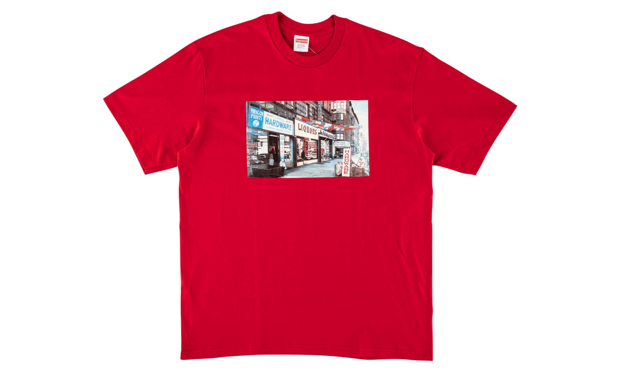 421842e7 Supreme - Red Hardware Tee for Men - Lyst. View fullscreen