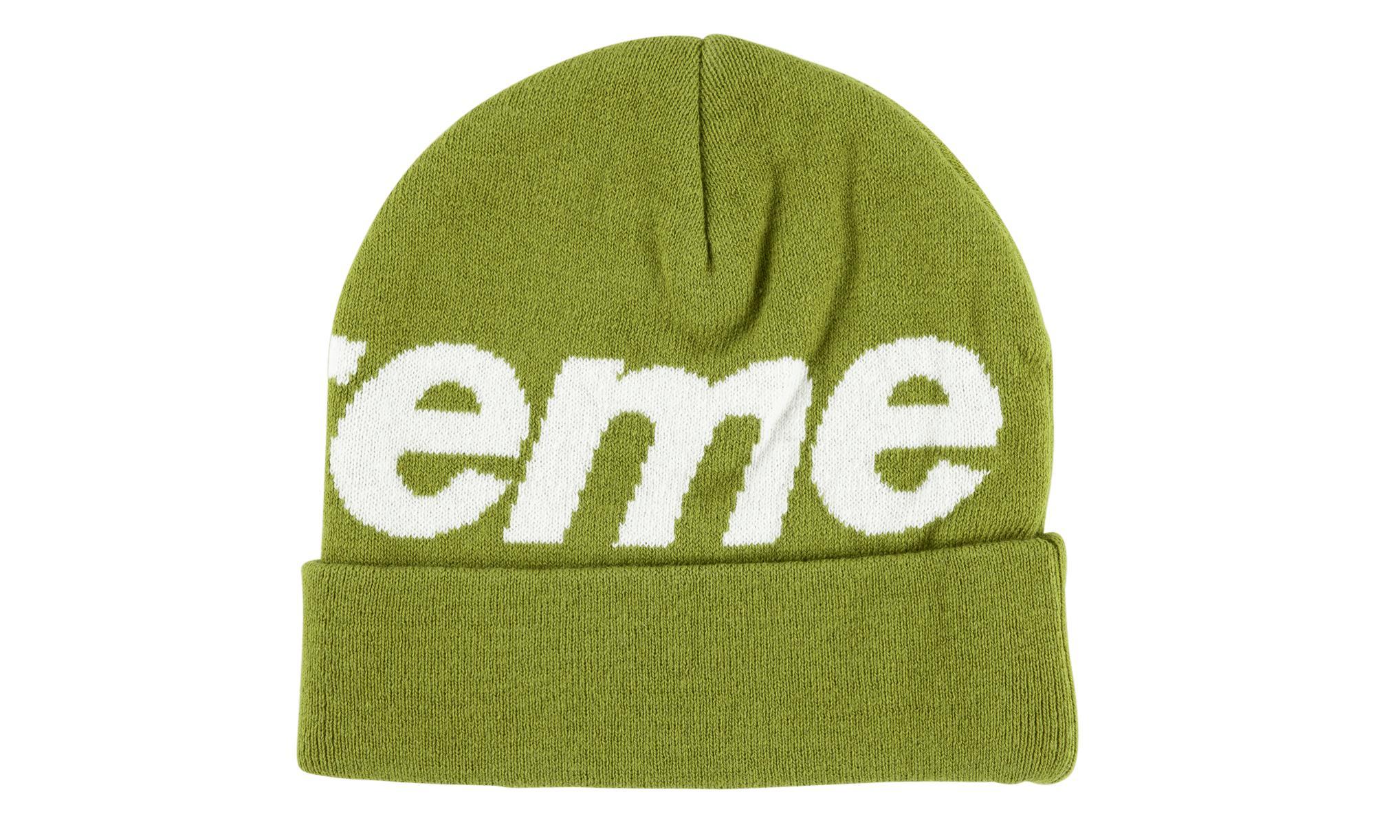 27d939e0 Supreme Big Logo Cashmere Beanie in Green for Men - Lyst