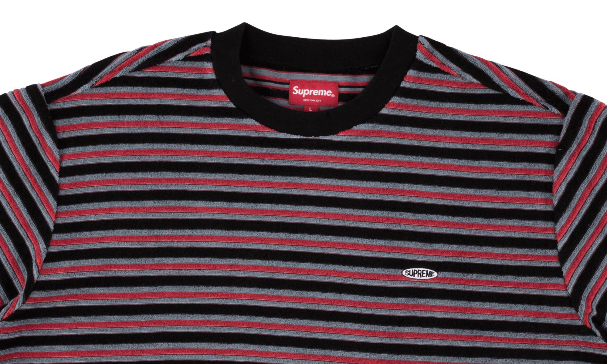 0690785917b3 Supreme Multi Stripe Terry Tee in Black for Men - Lyst