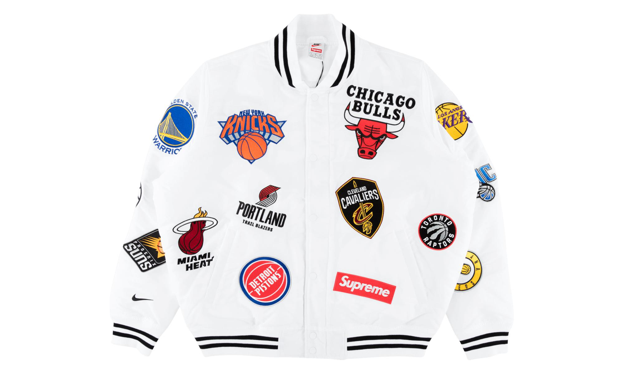 bdfff318b Supreme Nike nba Teams Warm-up Jacket White in White for Men - Lyst