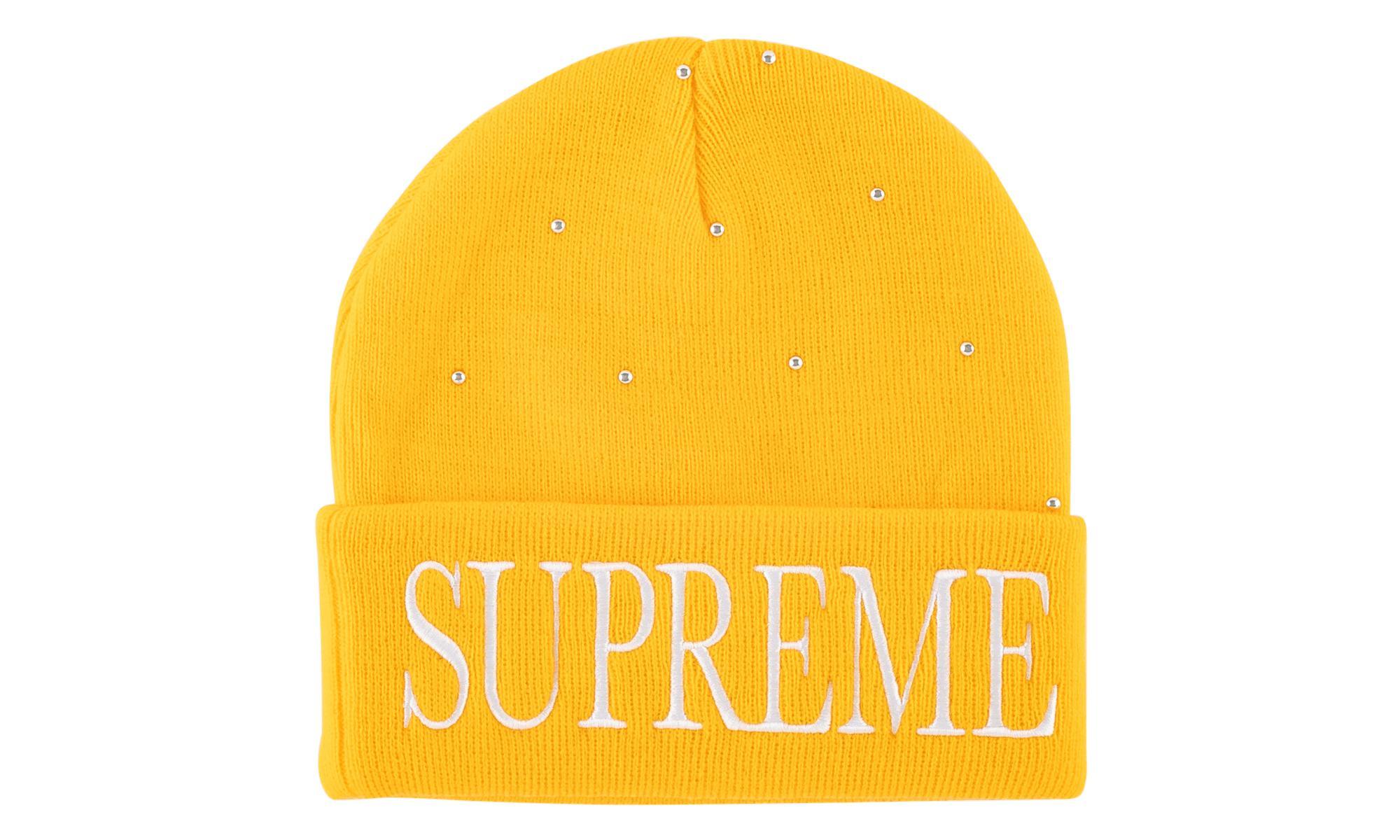 Supreme - Yellow Studded Beanie - Lyst. View fullscreen 7a18695e4b