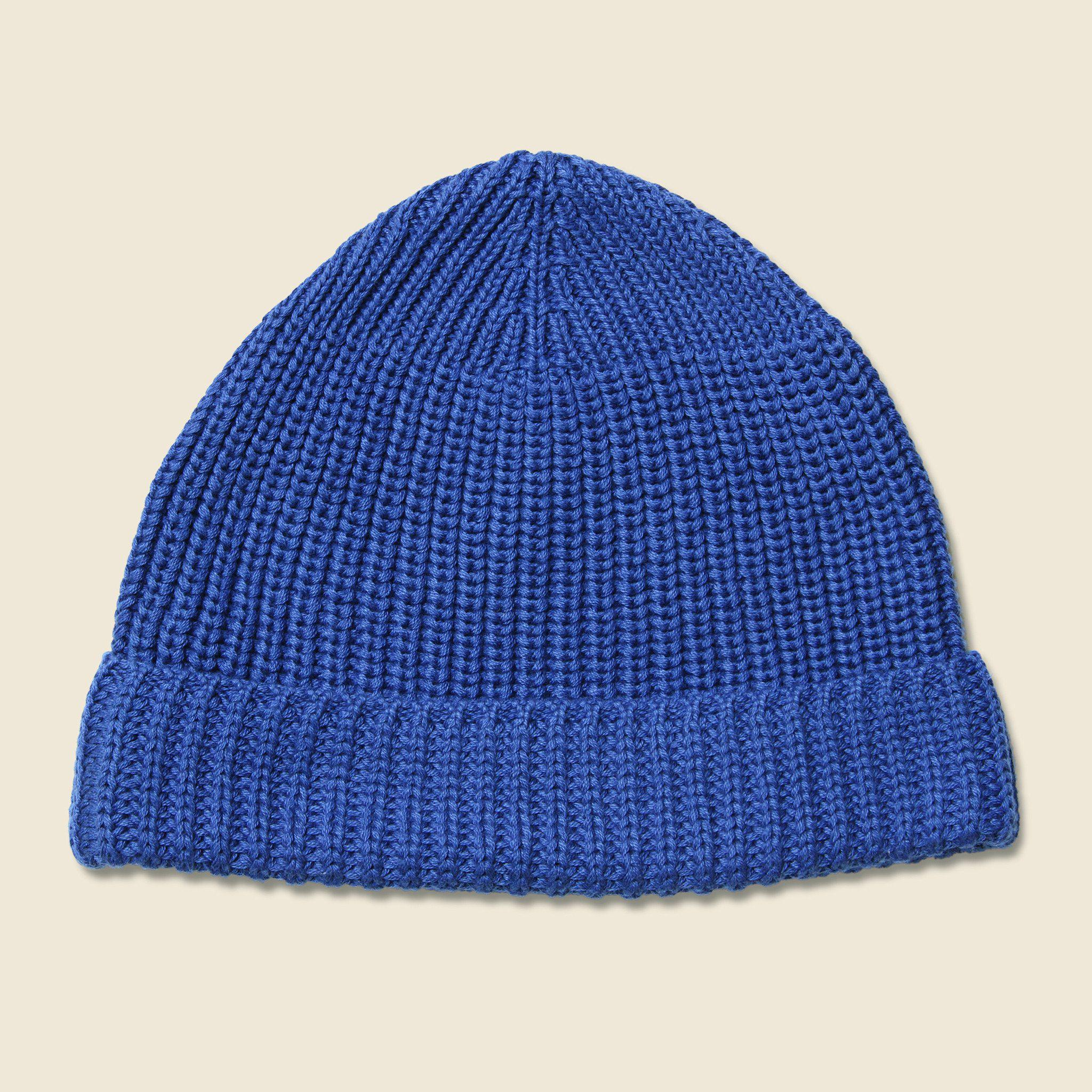 24042276d5b Lyst - Universal Works Cotton Rib Beanie - Blue in Blue for Men