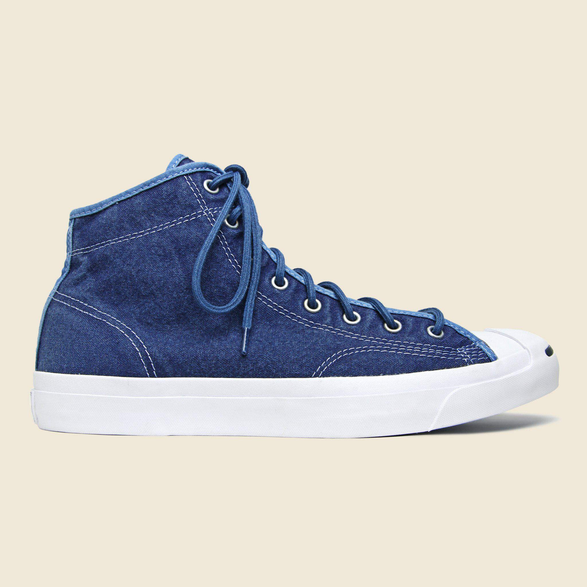 3587db5144f0 Lyst - Converse Jack Purcell Hi Top - Navy white in Blue for Men