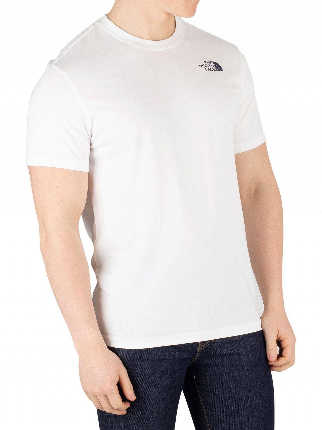 efd37df769 Lyst - The North Face White urban Navy Redbox T-shirt in White for Men