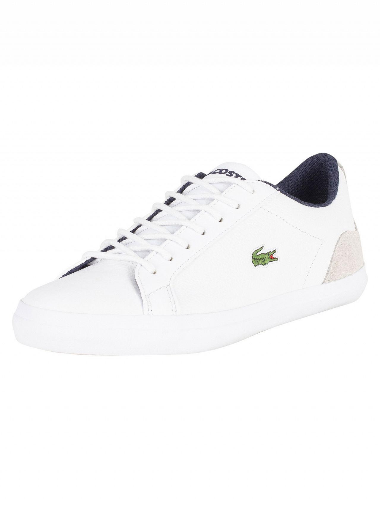 9a20e848e8a99a Lyst - Lacoste White navy Lerond 318 3 Cam Trainers in White for Men