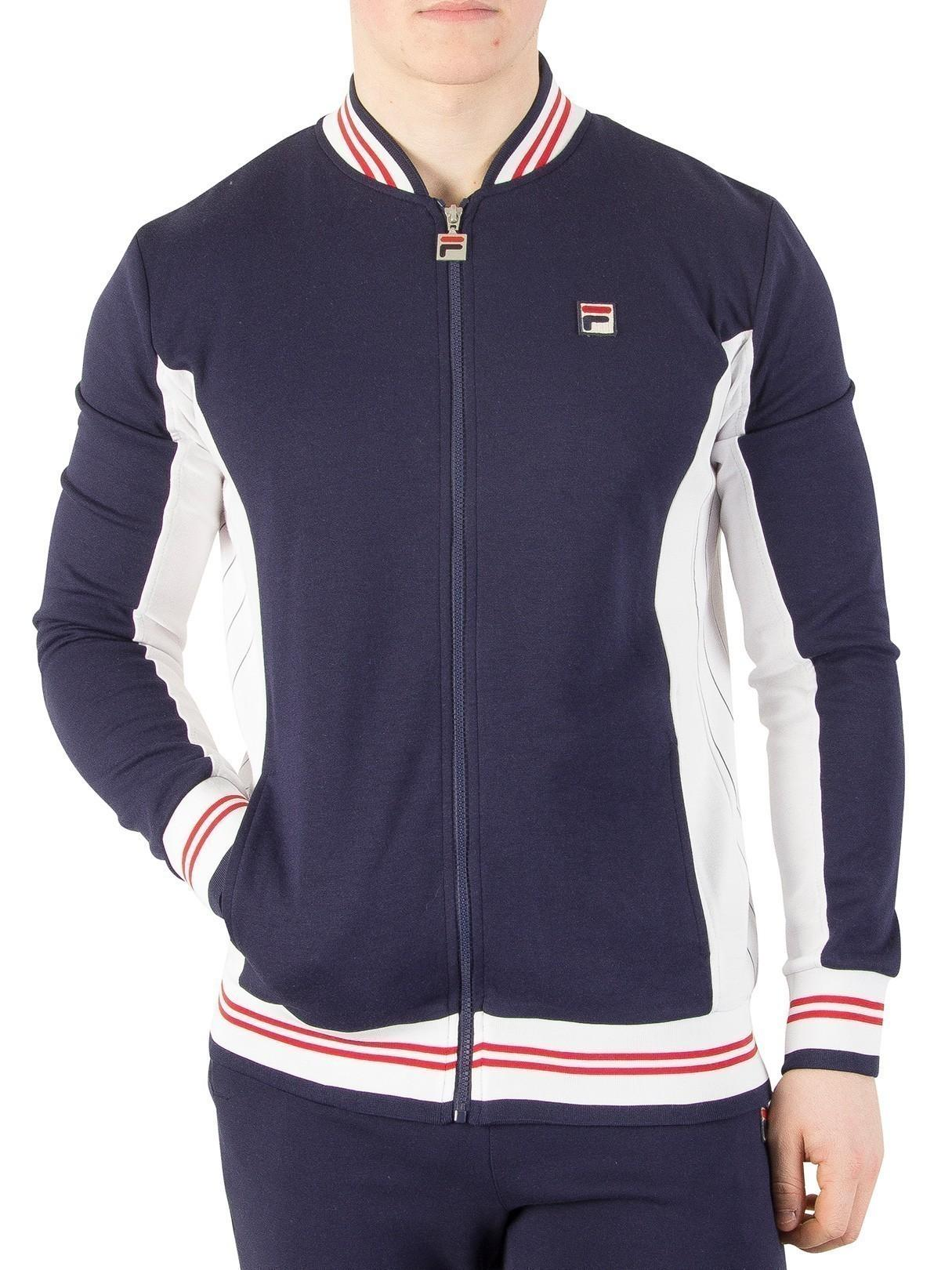 ceaf8e8395c3 Lyst - Fila Peacoat white chinese Red Settanta Zip Track Jacket in ...