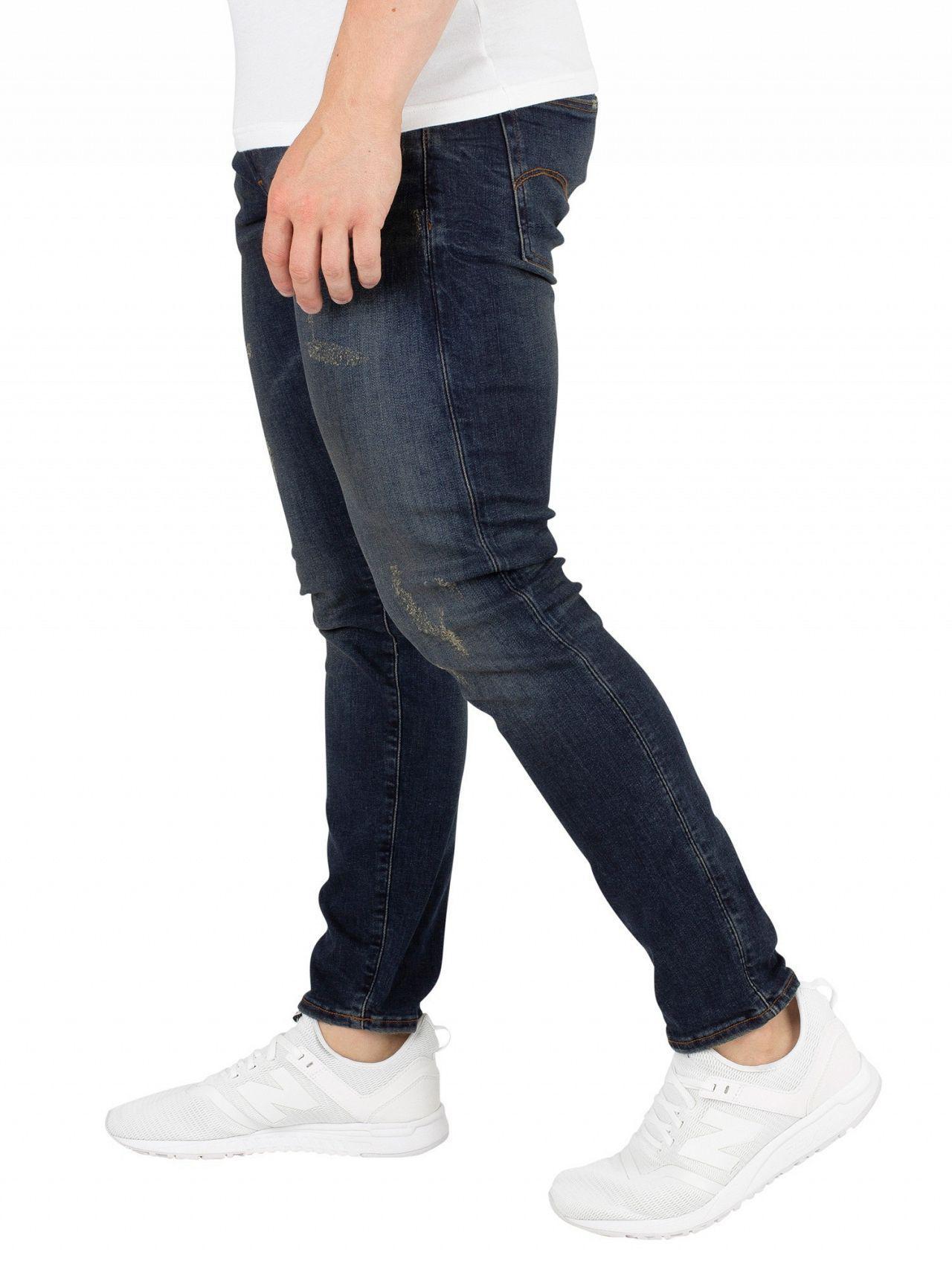 4a0382bd1c5 G-Star RAW Dark Aged Antic Destroy 3301 Deconstructed Skinny Jeans ...
