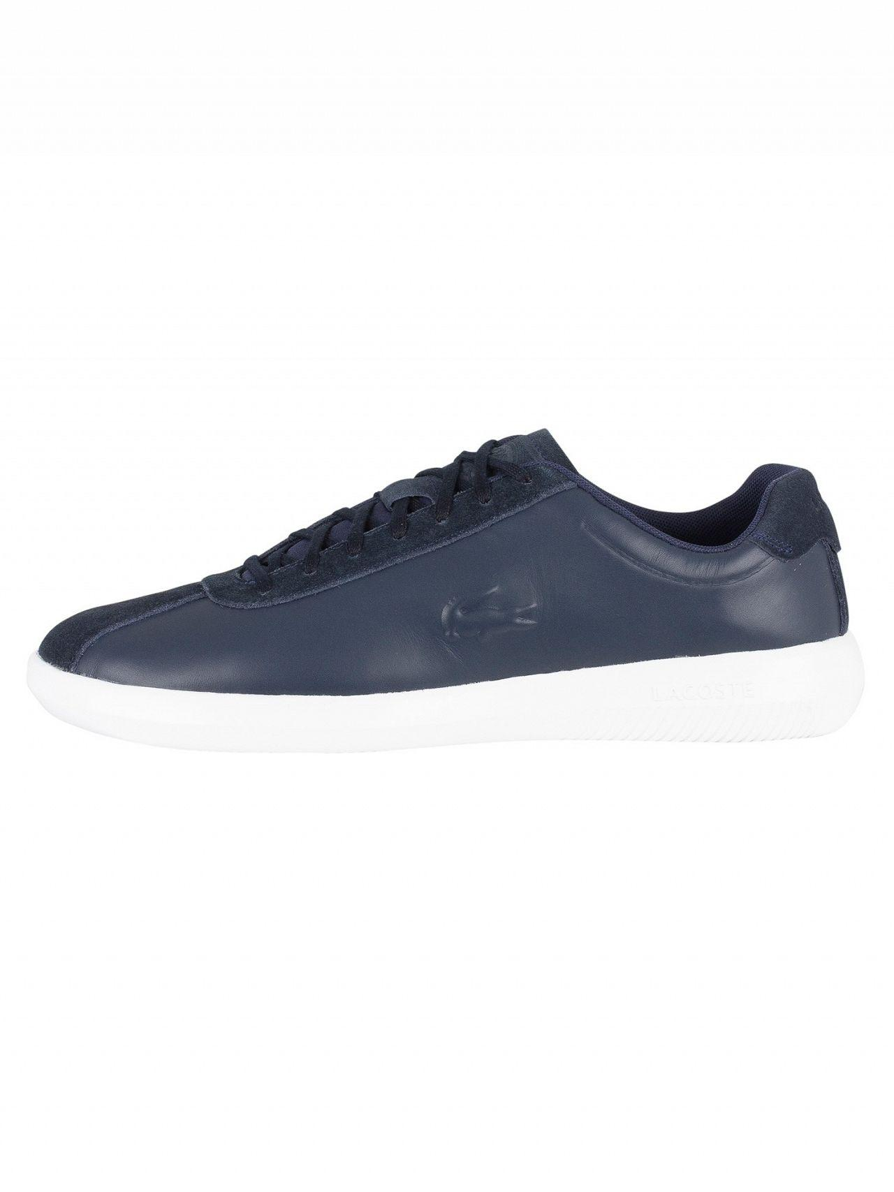 c0d04f8f4f3dd Lyst - Lacoste Navy white Avance 318 2 Spm Trainers in Blue for Men
