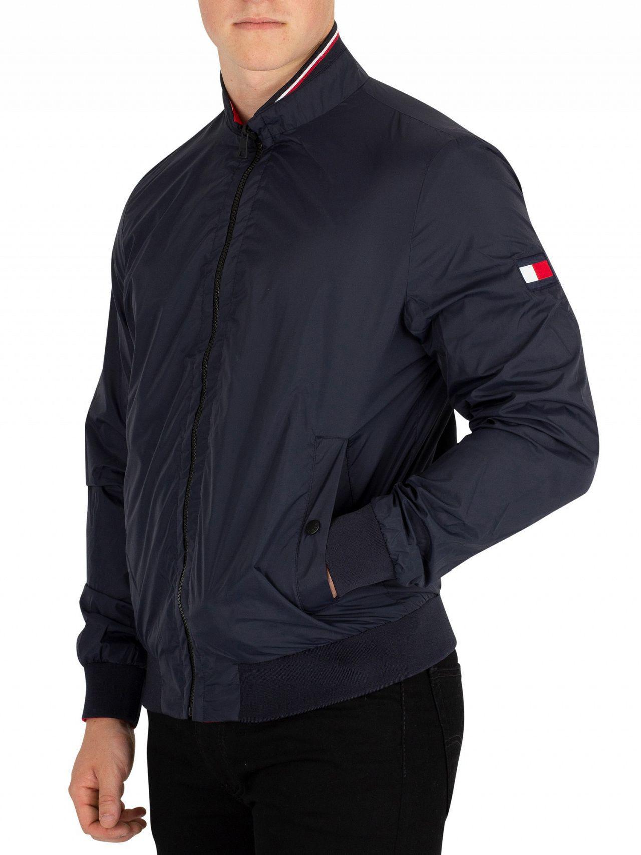 Tommy Hilfiger Sky Captain Reversible Bomber Jacket in Blue for Men ... 0c336074ed