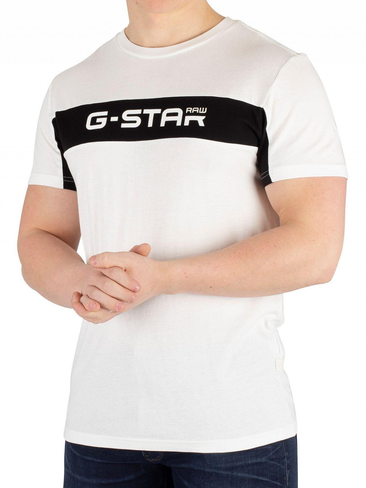 dffaf652b61 Lyst - G-Star RAW Milk/dark Black Graphic 80 T-shirt in Black for Men