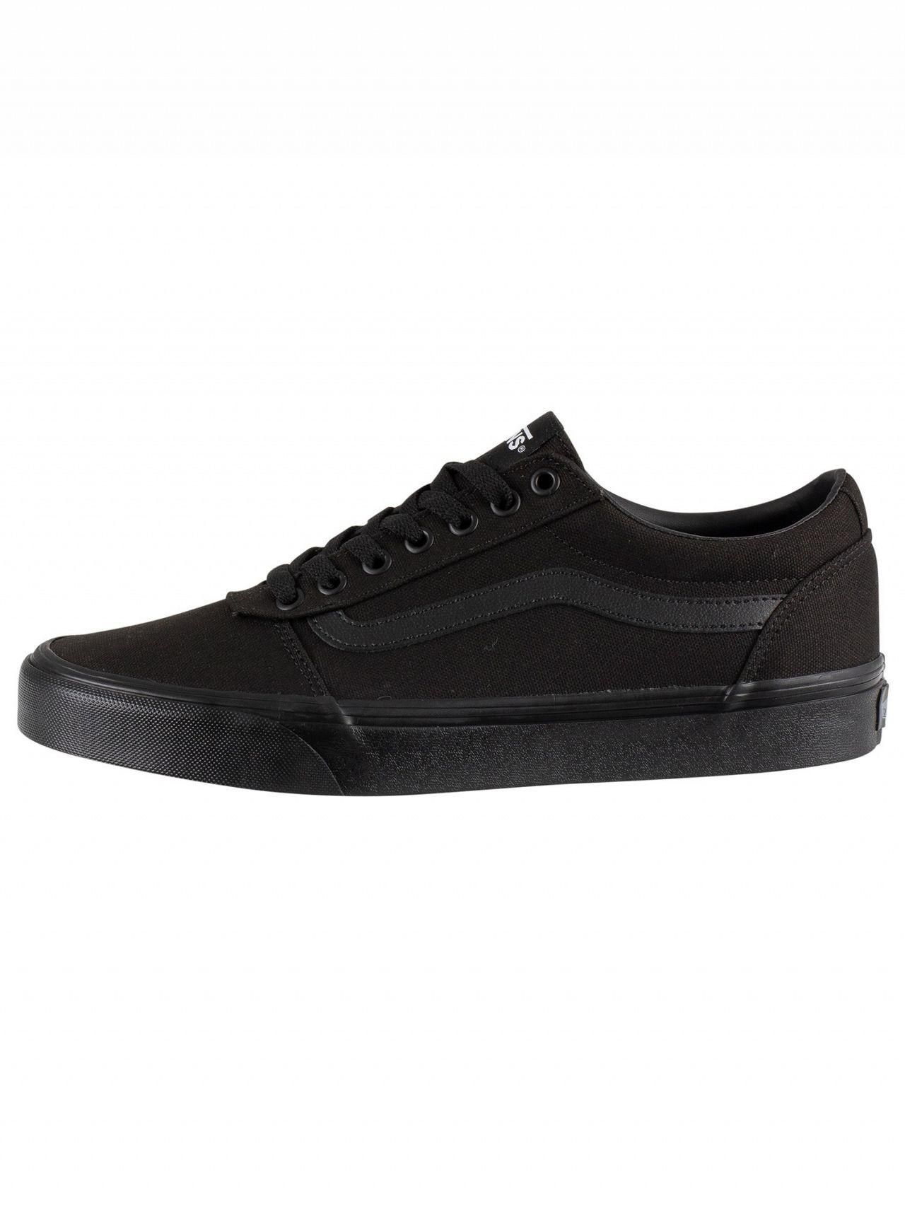 7071f26ae4 Lyst - Vans Black black Ward Canvas Trainers in Black for Men