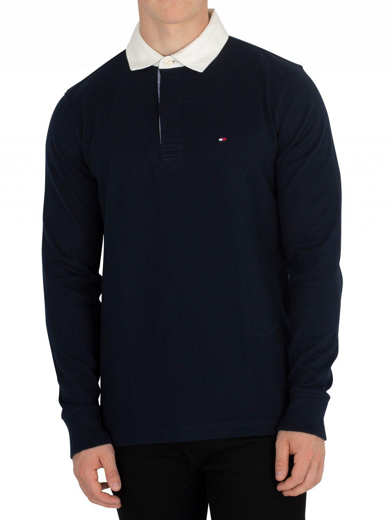 ecb433f3cbf1 Tommy Hilfiger Sky Captain Iconic Rugby Longsleeved Poloshirt in ...