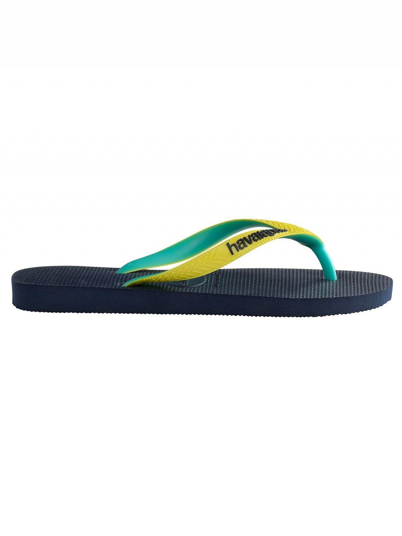 2604509dabd2 Havaianas Top Mix Flip Flops Navy Neon Yellow in Blue for Men - Lyst