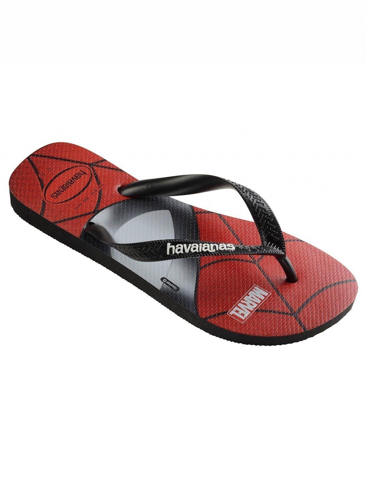 930b14432 Havaianas Black Top Marvel Flip Flops in Black for Men - Save 14% - Lyst