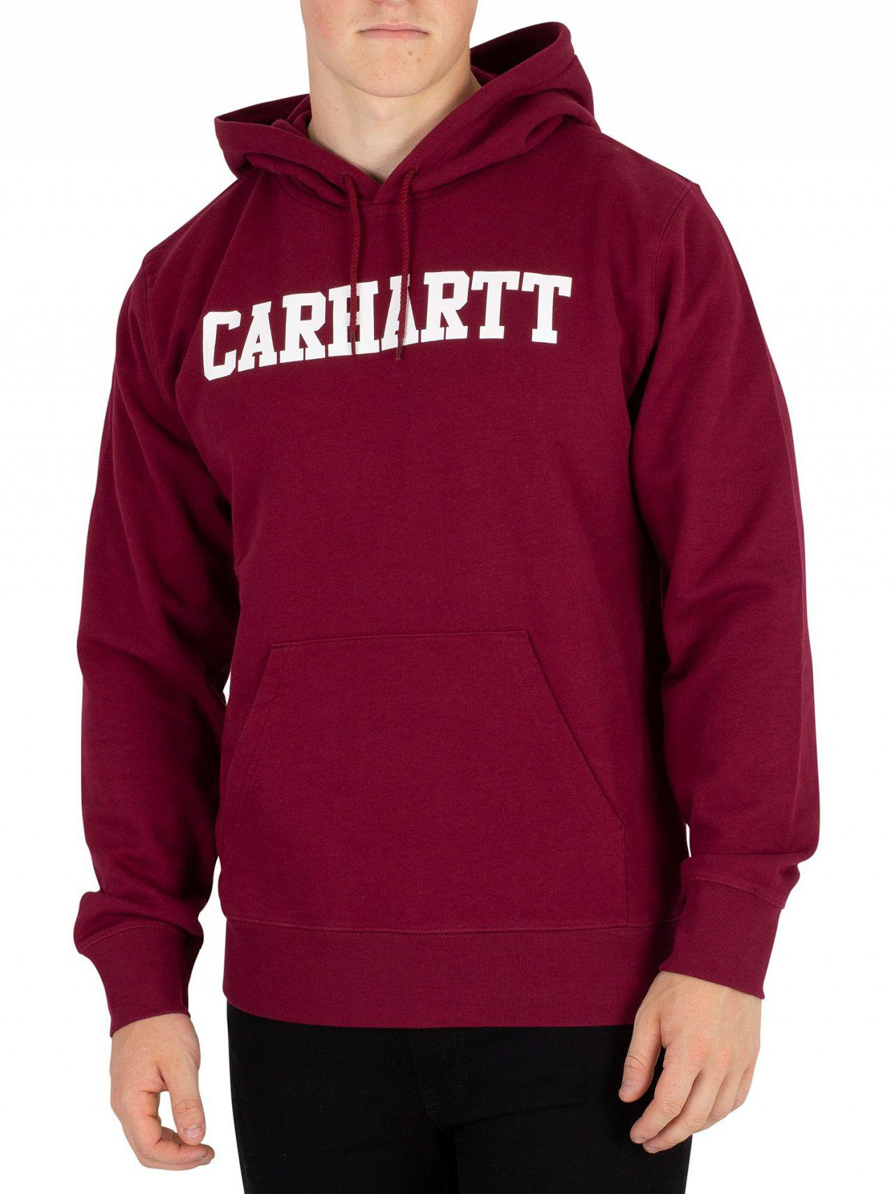 e2646388e854 Lyst - Carhartt WIP Mulberry white College Pullover Hoodie in White ...