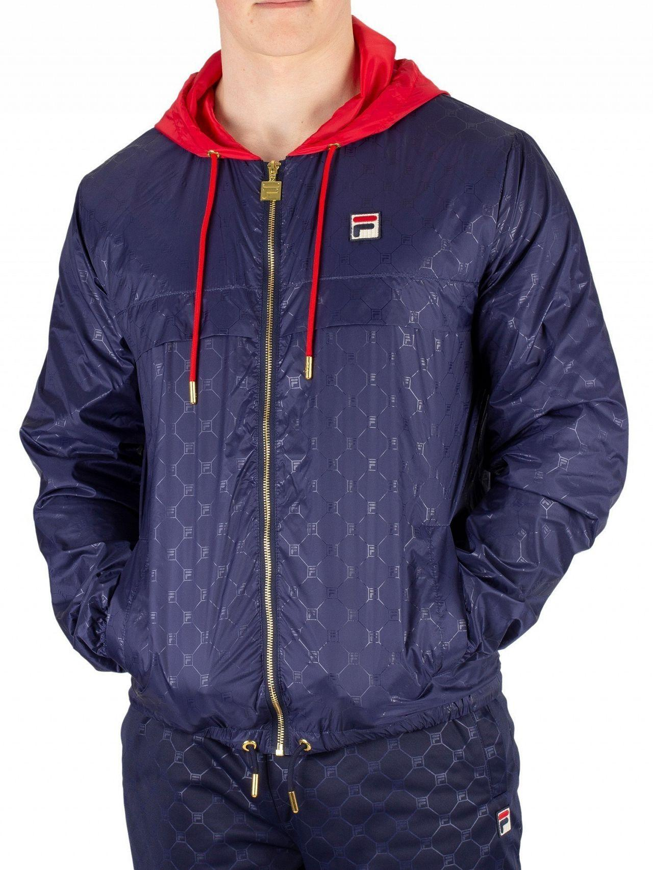 9560804e8 Fila Peacoat/red Copper Patterned Jacket in Red for Men - Lyst