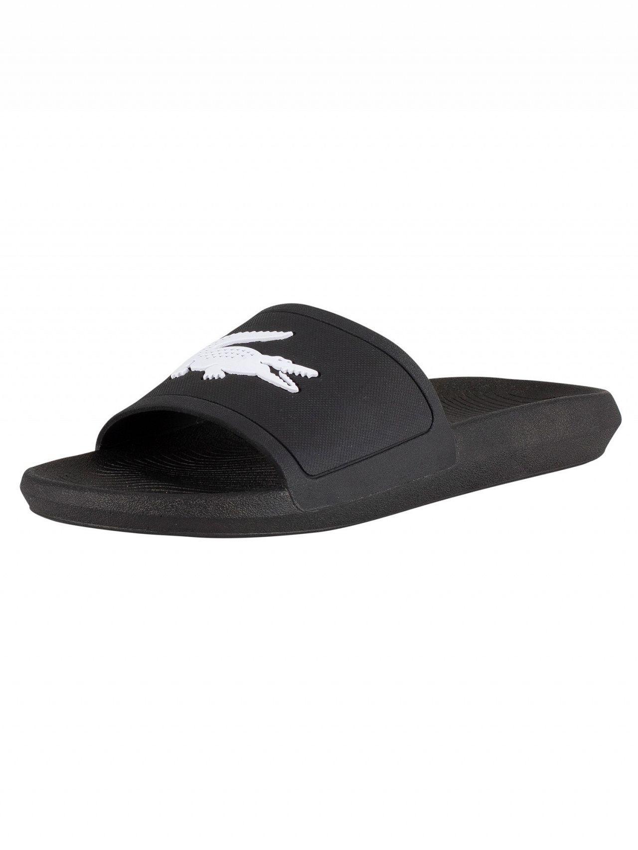 252efb3b4 Lacoste Black white Croco 119 1 Cma Sliders in Black for Men - Save ...