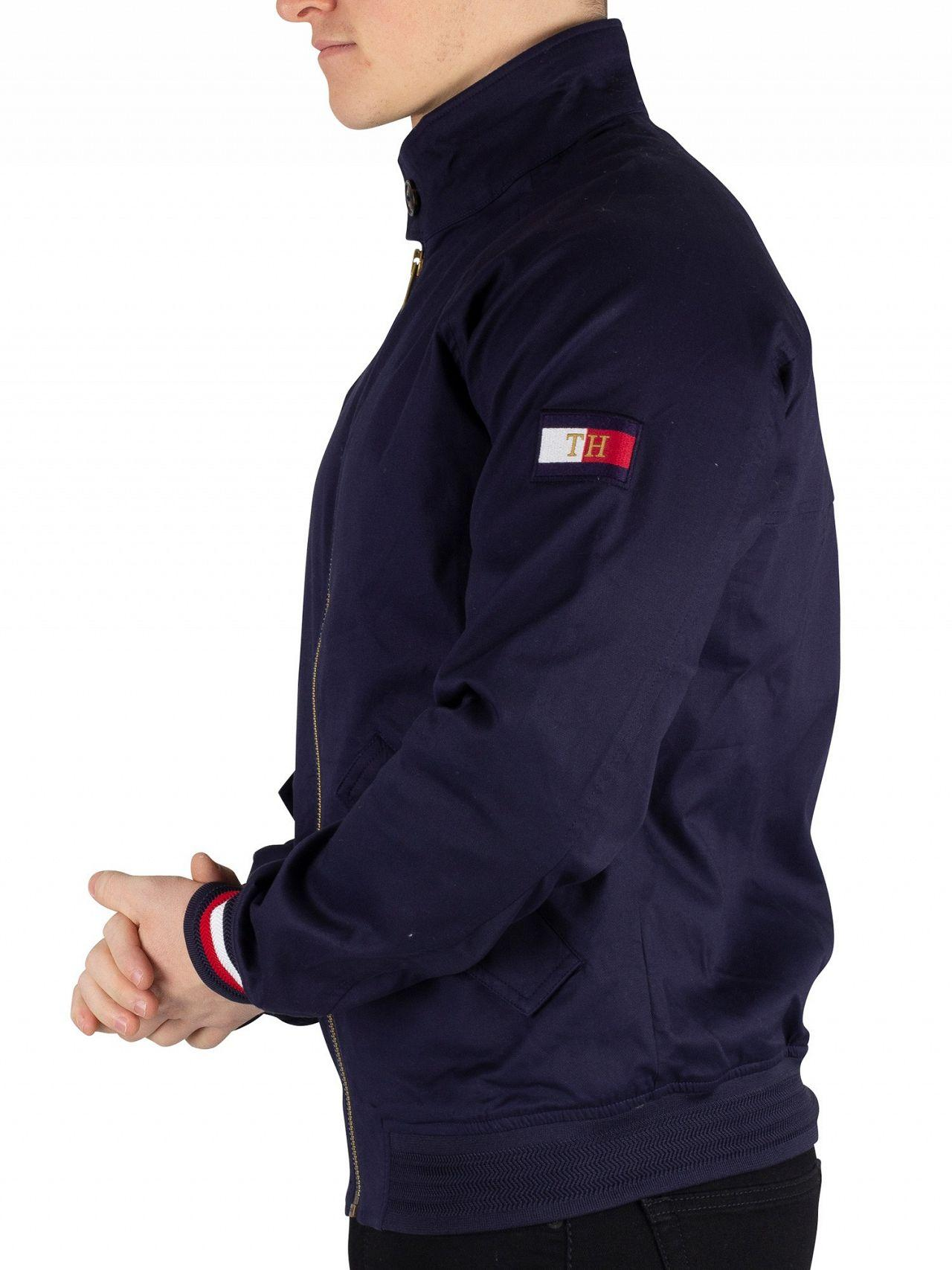 7178b452 Tommy Hilfiger Maritime Blue Icon Cotton Harrington Jacket in Blue ...