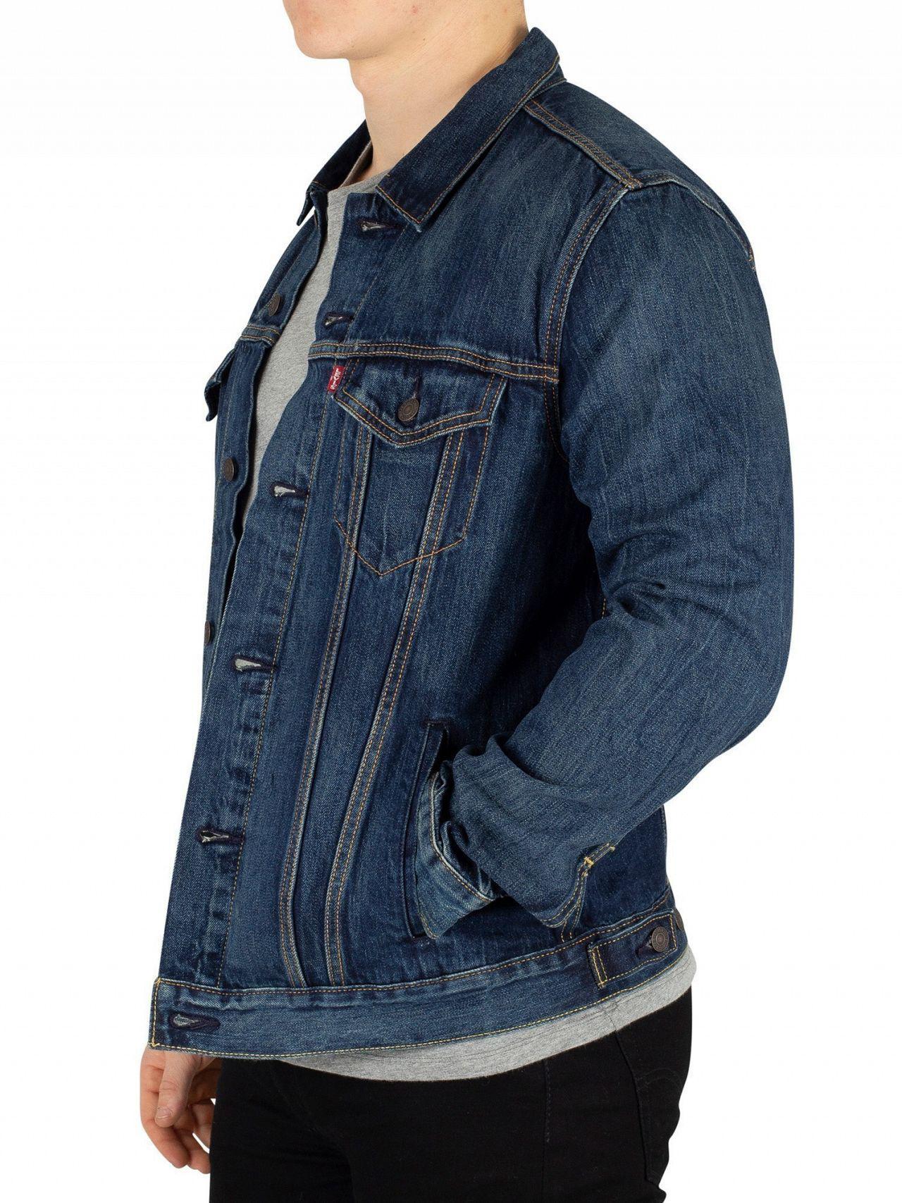 Lyst - Levi s Palmer The Trucker Jacket in Blue for Men ed7ce182777