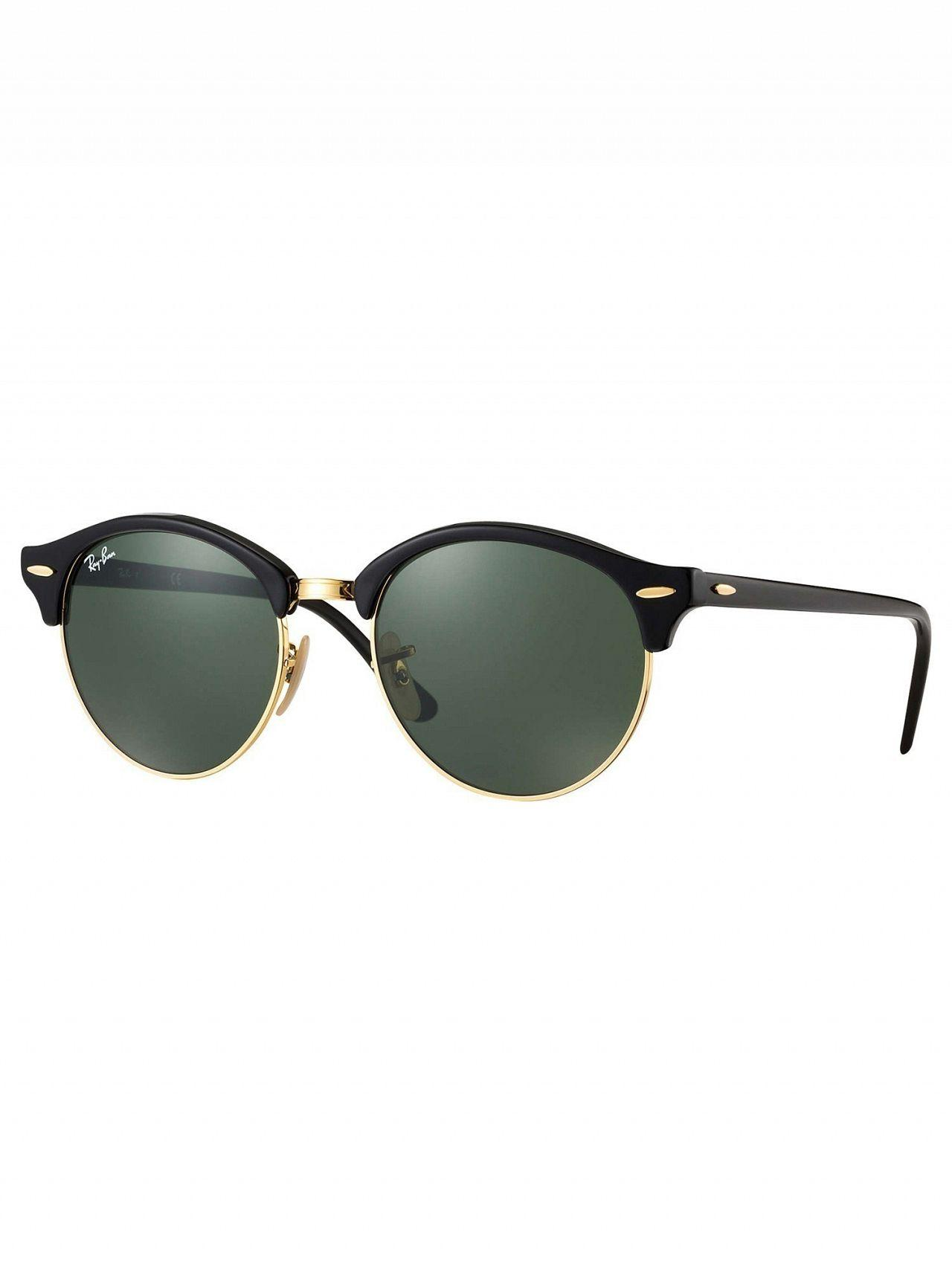 5f2526ad07 Lyst - Ray-Ban Black Rb4246 Clubround Sunglasses in Black for Men