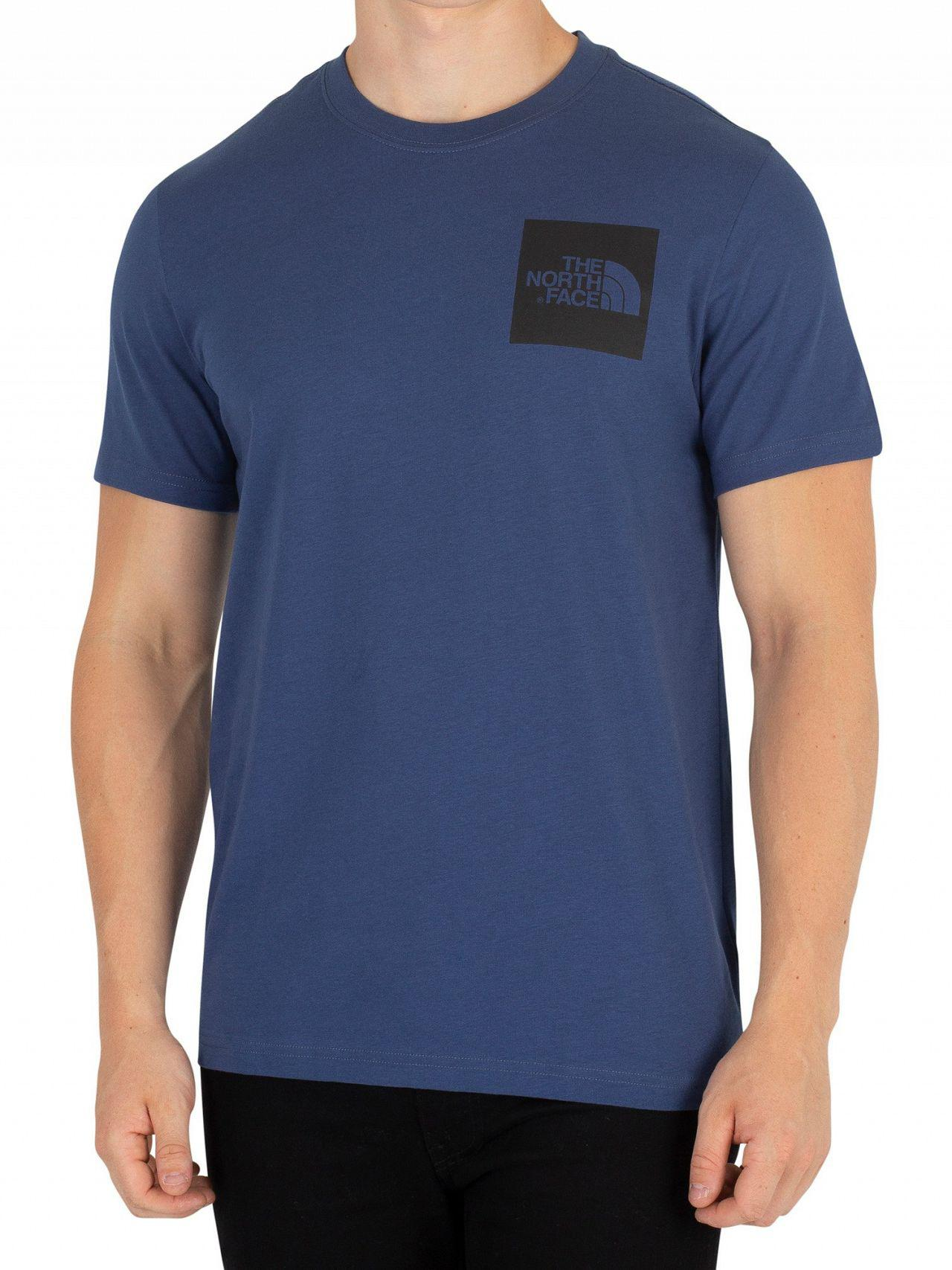 c4054fd31 Lyst - The North Face Shady Blue Fine T-shirt in Blue for Men - Save 44%