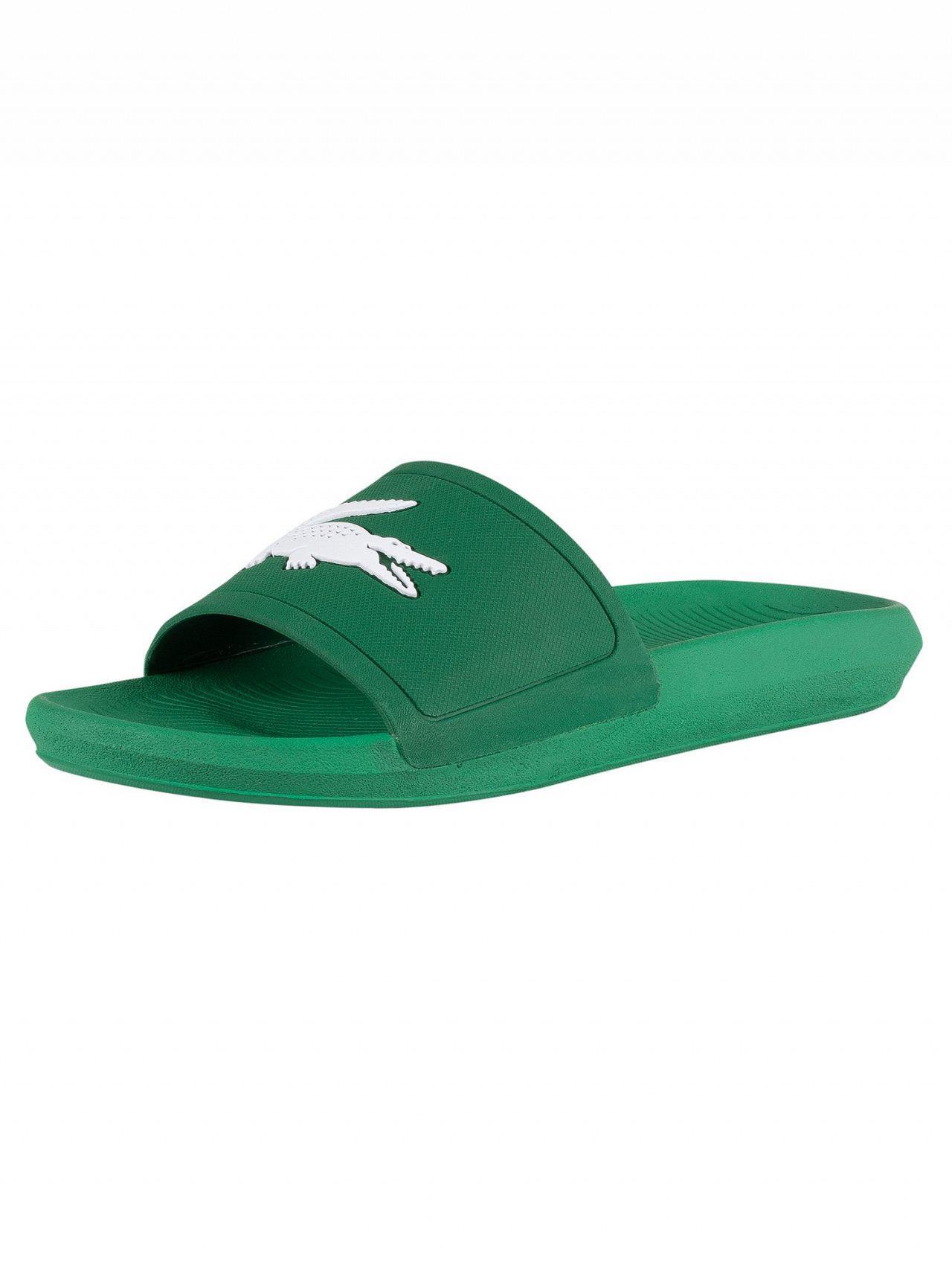 6b99d32dd80e Lacoste Green white Croco 119 1 Cma Sliders in Green for Men - Lyst