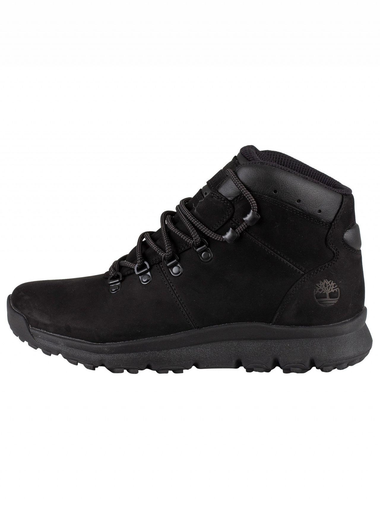fbc8411aa0d Timberland Blackout Nubuck World Hiker Leather Boots in Black for ...