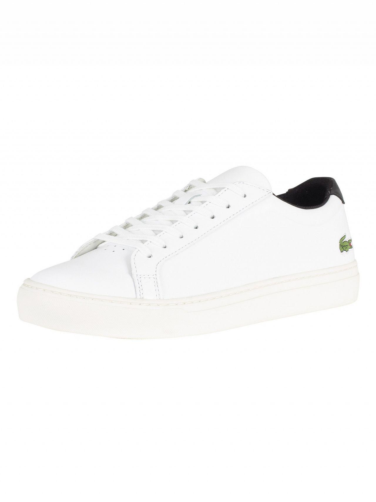 6aa1e4fec Lyst - Lacoste White black L.12.12 317 4 Cam Leather Trainers in ...