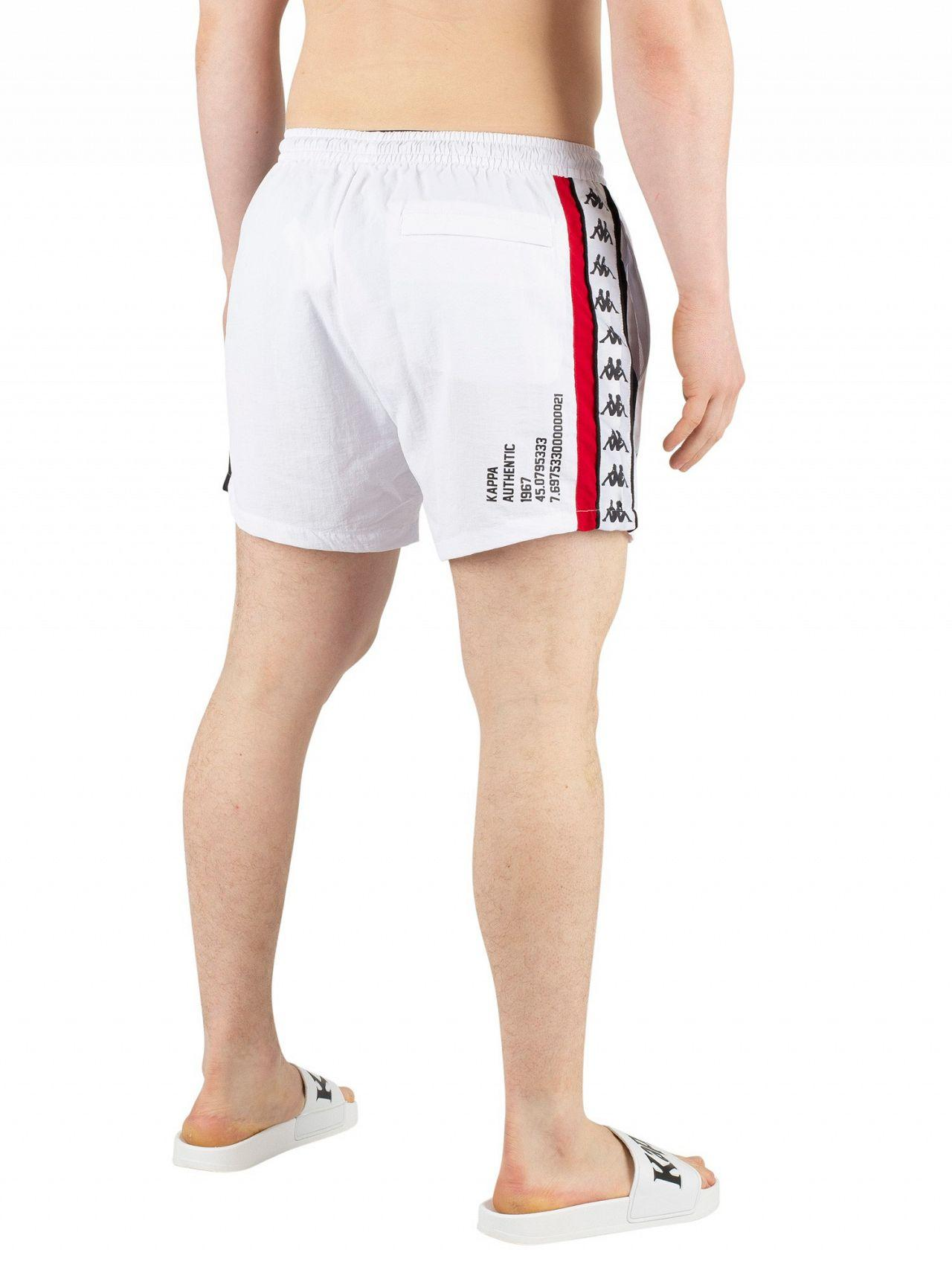 fe9677347a4c5 Lyst - Kappa White/red/black Authentic Baten Swim Shorts in White ...
