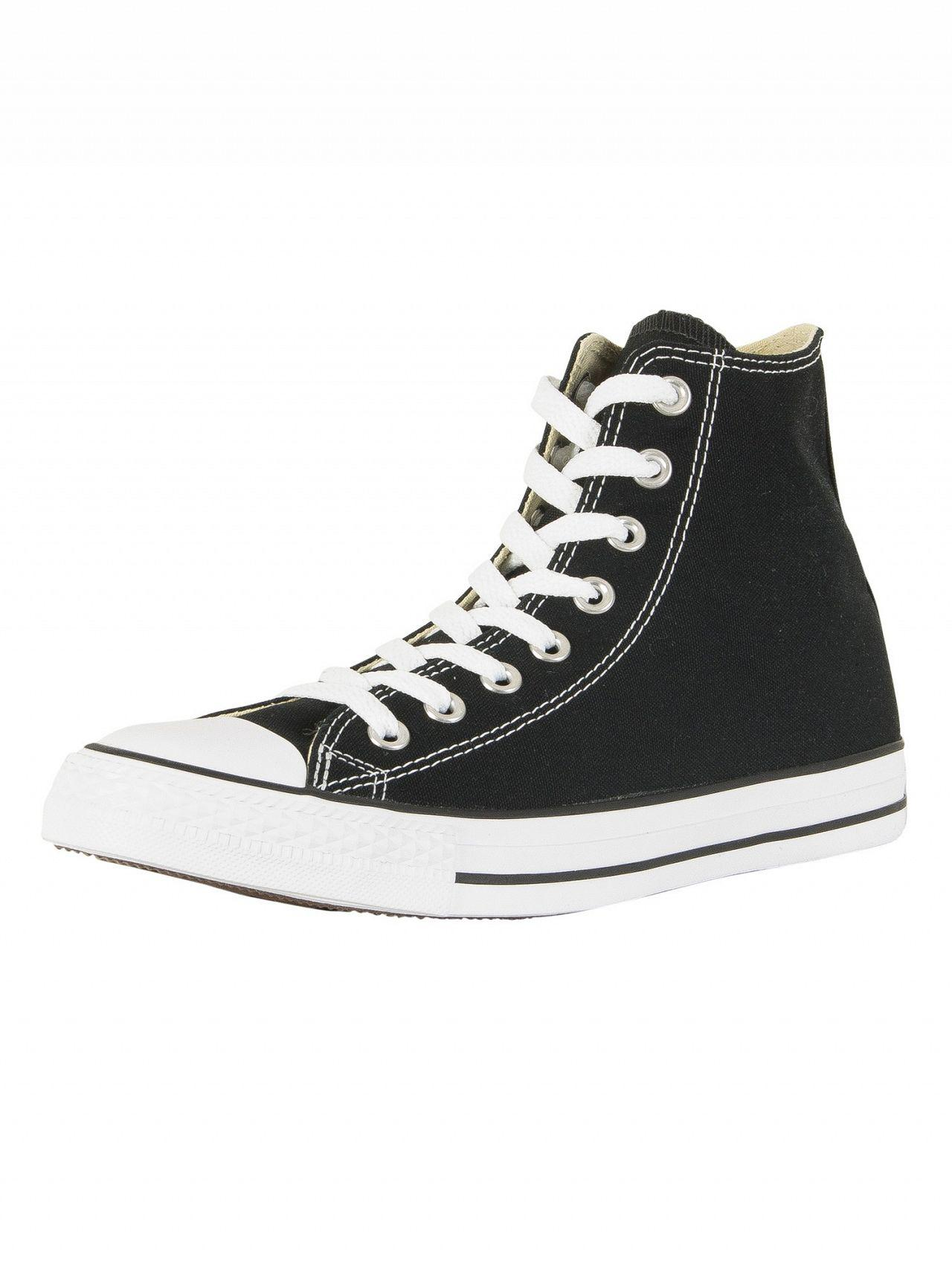 Converse Chuck Taylor All Star Black Hi Trainers in Black for Men ... 86fc015fb
