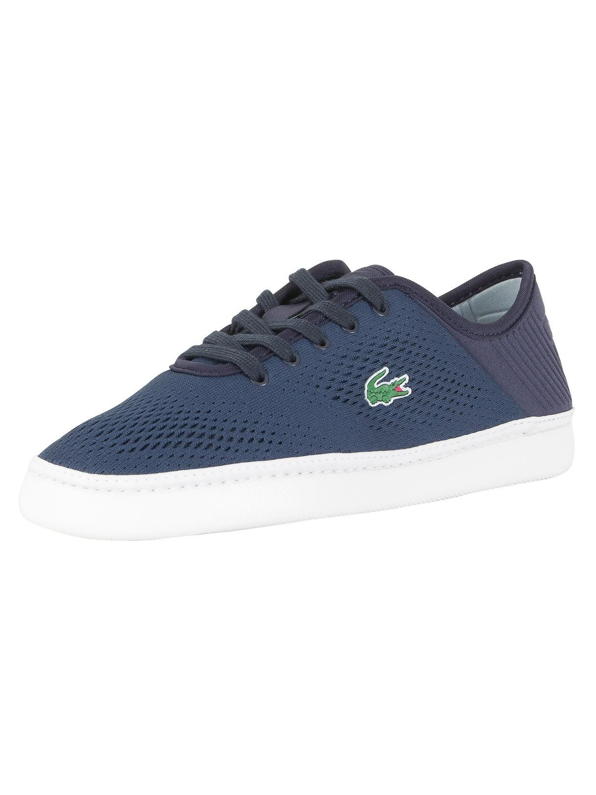 d895fd623 Lyst - Lacoste Navy white L.ydro Lace 118 1 Cam Trainers in Blue for Men